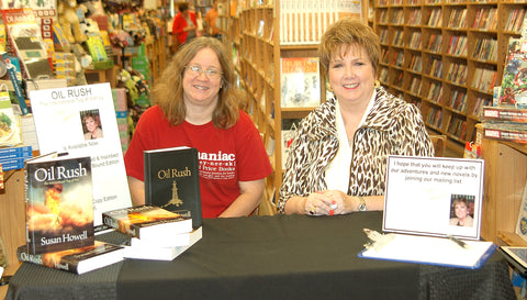 Author Susan Howell and Half-Price Books Sherry Lane Manager Patti Williams