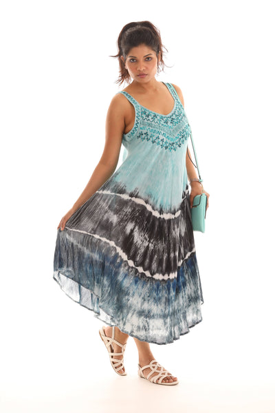 Three Layer Tie Dye Umbrella Dress