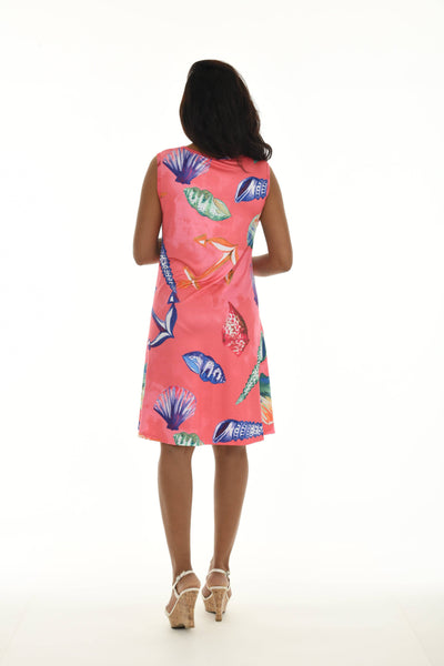 Sleeveless Seashell Anchor Print Tank Dress