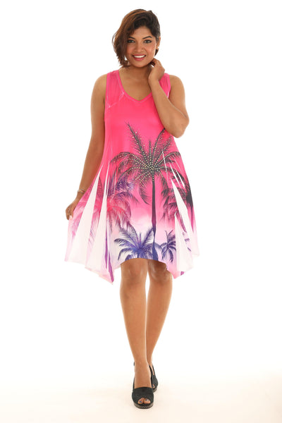 Palm Tree Sublimation Printed Dress