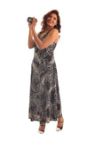 Leaf Print Summer Maxi Dress