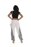 Arabesque Contrast-Side Pocket Harem Pants