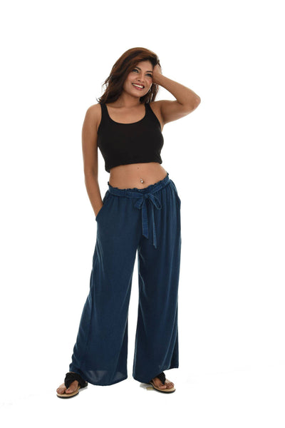Mid-Rice Soft Wide Leg Pants