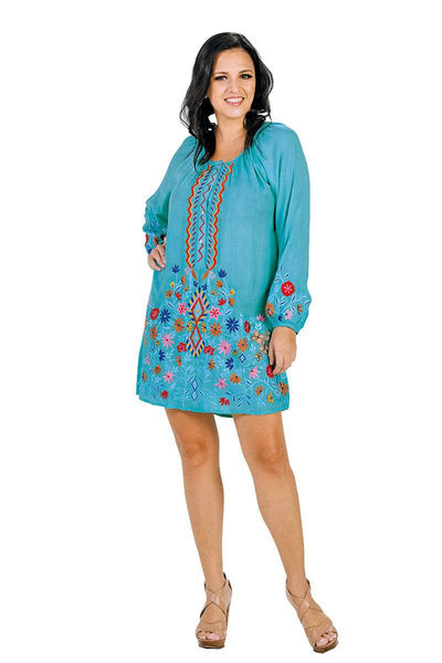 RAYON EMBROIDERED COVER UP