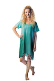 Rayon Tie Dye Half Sleeves Dress