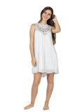 White Cotton Short Dress