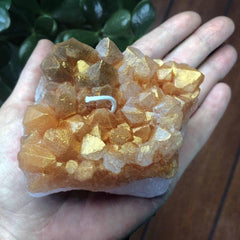 Citrine Wax Crystal Candle