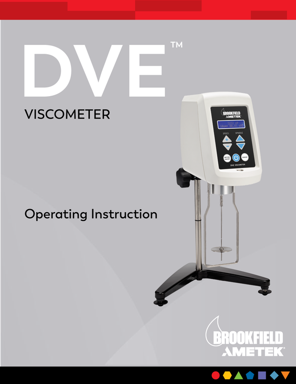 DVE Viscometer Manual