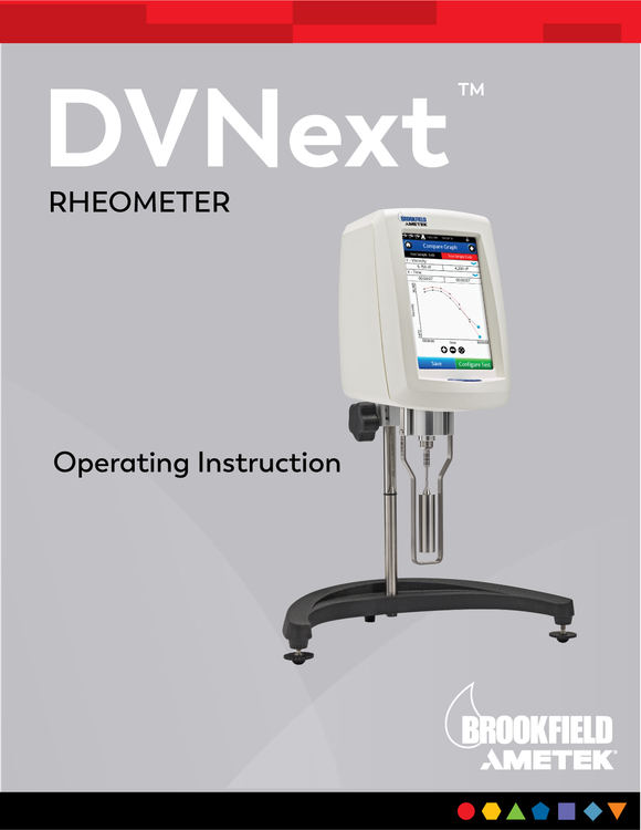 Manual de DVNext Rheometer