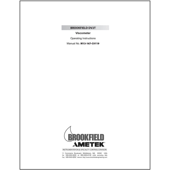DV2T Viscometer Manual