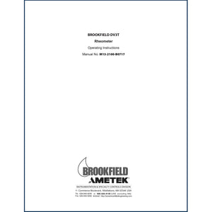 DV3T Rheometer Operator Instructions
