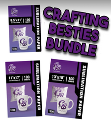 Crafting Besties® Sublimation Paper Bundle | Cosmos Ink® Recommended