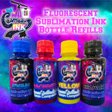 "Epson Compatible Fluorescent Sublimation Ink Refills 100mL (4 Color ""CFMFYK"" Epson Printers) 