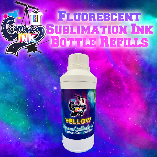 Epson Compatible Fluorescent Sublimation Ink Refill 500mL (Fluorescent Yellow) | Cosmos Ink