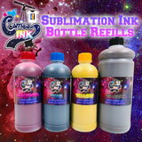"Epson Compatible Sublimation Ink Refills 500mL and 1000mL (4 Color ""CMYK"" Epson Printers) 