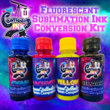 Fluorescent Sublimation Ink Conversion Kit for Epson WF-7710, 7720, 7610, 7620, 7110, 7210, 3640, 3620 (All Four Colors) | Cosmos Ink®