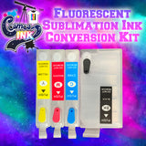 Fluorescent Sublimation Ink Conversion Kit for Epson WF-7710, 7720, 7610, 7620, 7110, 7210, 3640, 3620 (T252 Refillable Cartridges) | Cosmos Ink®