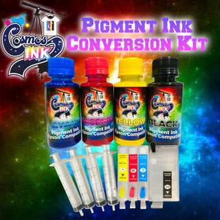 Pigment Ink Conversion Kit for Epson WF-7710, 7720, 7610, 7620, 7110, 7210, 3640, 3620 | Cosmos Ink®