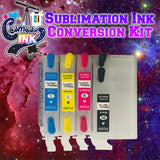 Sublimation Ink Conversion Kit for Epson WF-7710, 7720, 7610, 7620, 7110, 7210, 3640, 3620 (T252 Refillable Cartridges) | Cosmos Ink®