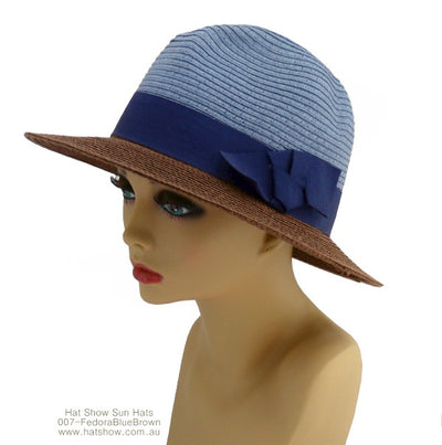 Sun Hats - Two-Toned Fashion Fedoras - Assorted
