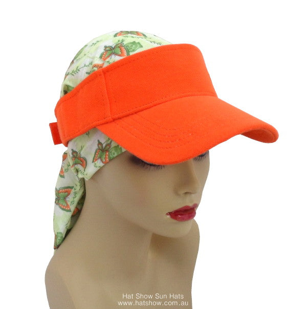 Sun Hats & Visors - Visor Only - Orange
