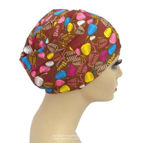 Seamless Multifunctional Headwraps - Coloured Leaves On Brown