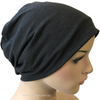 Cotton Chemo Turban - Lined - Charcoal