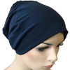Cotton Chemo Turban - Lined - Navy