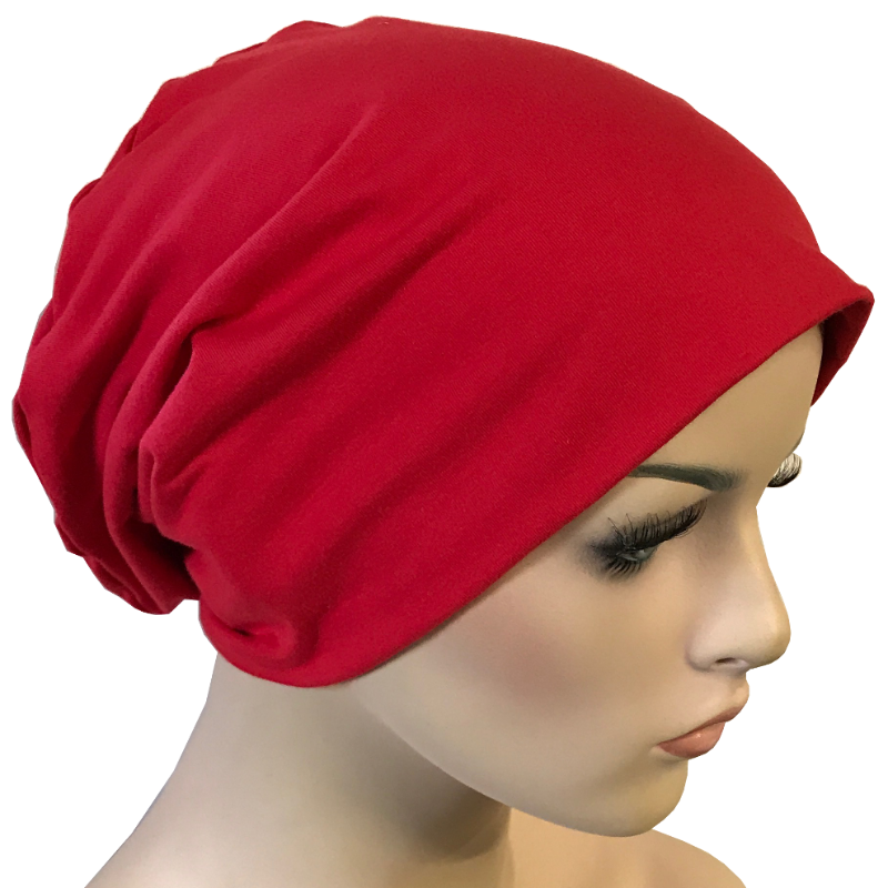 Cotton Chemo Turban - Lined - Red