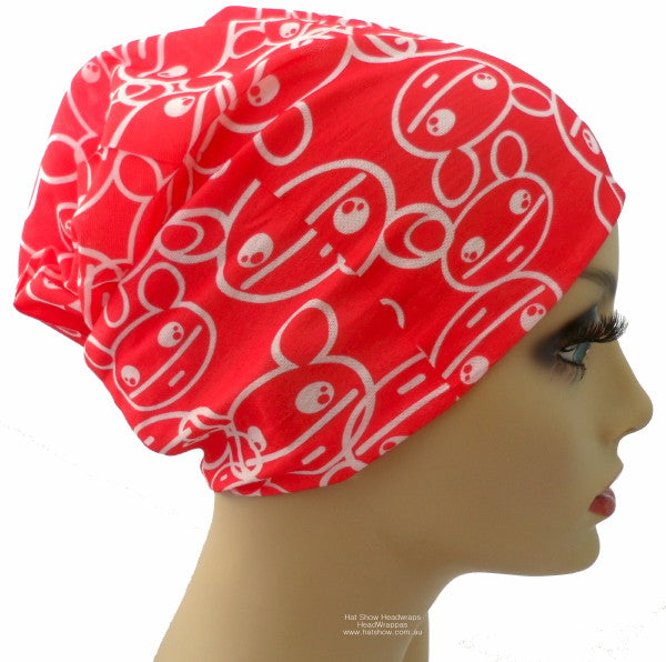 Seamless Multifunctional Headwraps - Red Teddys