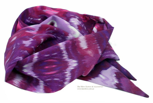 Shaped Scarves - Purples and Pinks Silky