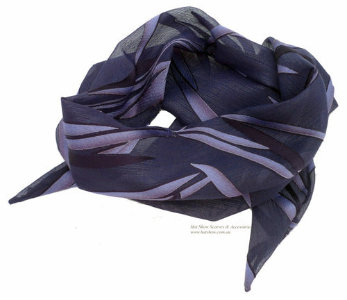 Shaped Scarf - Deep Purple Chiffon
