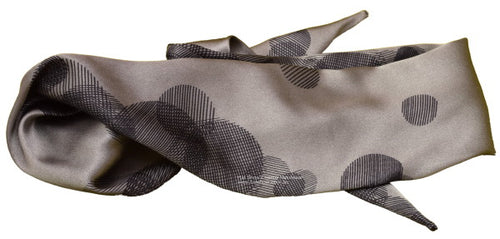 Shaped Scarf - Taupe-Black Satin