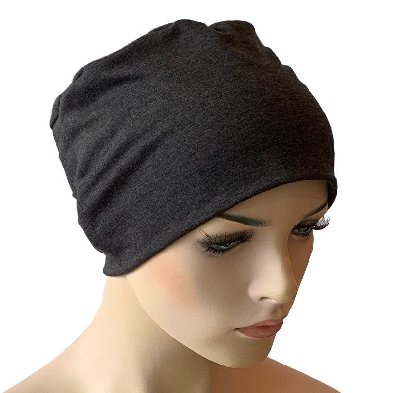 Donna Hat with Scarf Set - Charcoal Grey Hat with Elegance Scarf