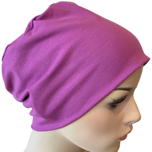 Donna Hat with Loop for Scarf - Mauve