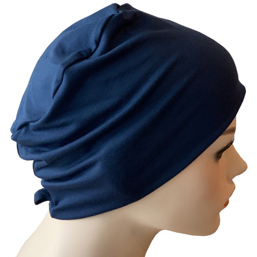 Donna Hat with Loop for Scarf - Navy