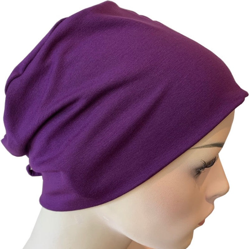 Donna Hat with Loop for Scarf - Plum