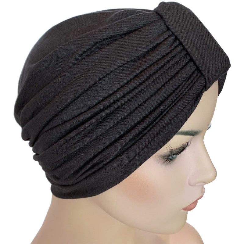 Bamboo - Classic Turban - Darkest Grey (Soft Black)