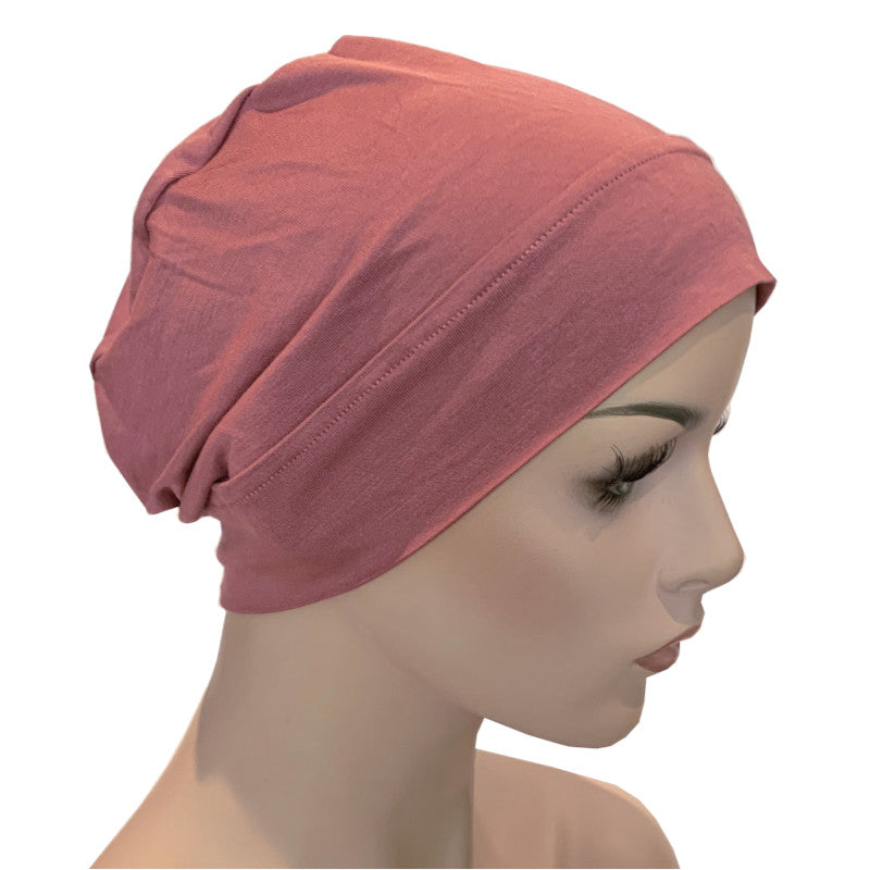 Bamboo Chemo Night Cap Turban - Rose