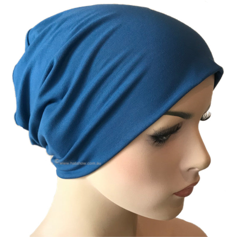 Bamboo Chemo Sleep Cap - Denim