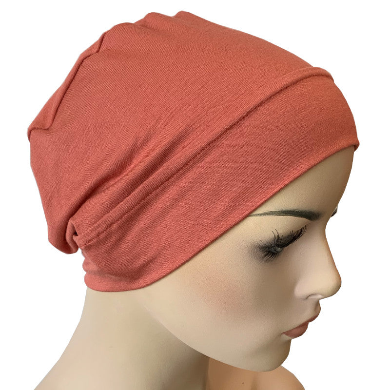 Bamboo Chemo Night Cap Turban - Peach
