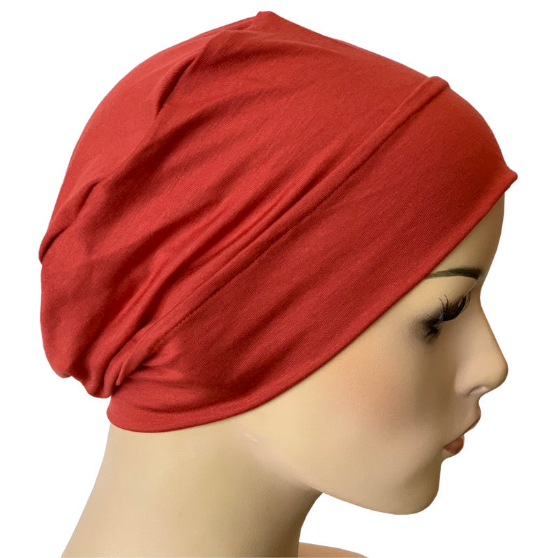 Bamboo Chemo Night Cap Turban - Pompei Red