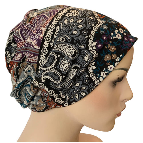 Beanies - Comfort Stretch - Paisley Patchwork