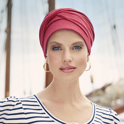 Christine - MILA Turban - LIPSTICK RED