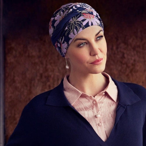 Christine - SHAKTI Turban - FLOWERING BLUES