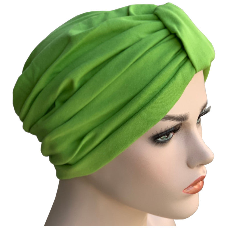 Cotton Classic Chemo Turbans - Lime Green
