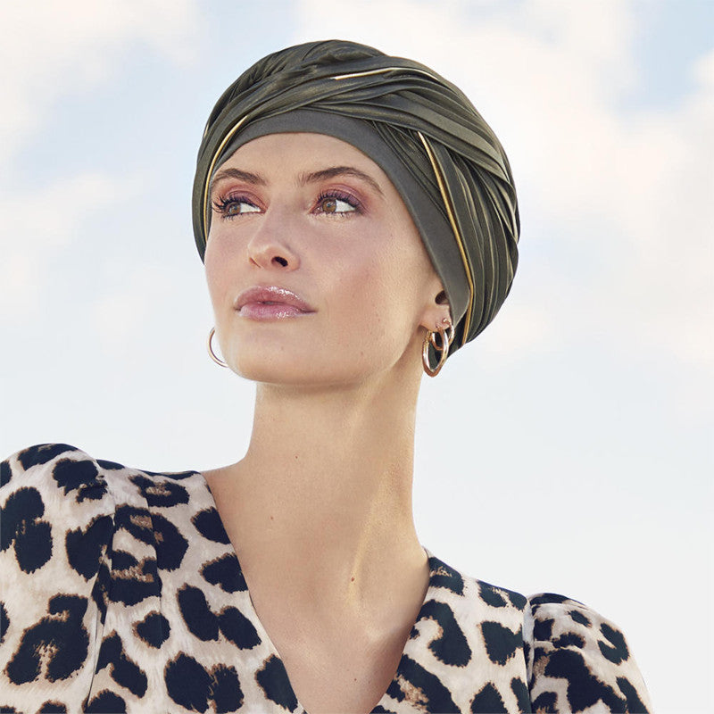 Christine - VIVA EMMY TURBAN - OLIVE & GOLD