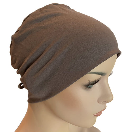 Donna Hat with Loop for Scarf - Bamboo - Dark Taupe