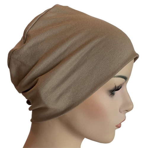 Donna Hat with Loop for Scarf - Bamboo - Fawn