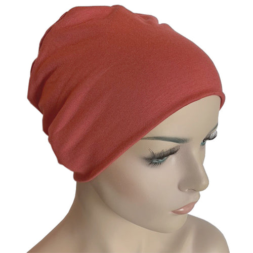 Donna Hat with Loop for Scarf - Bamboo - Peach